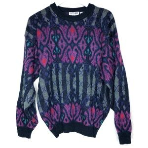City Streets Printed Vintage Oversized Sweater
